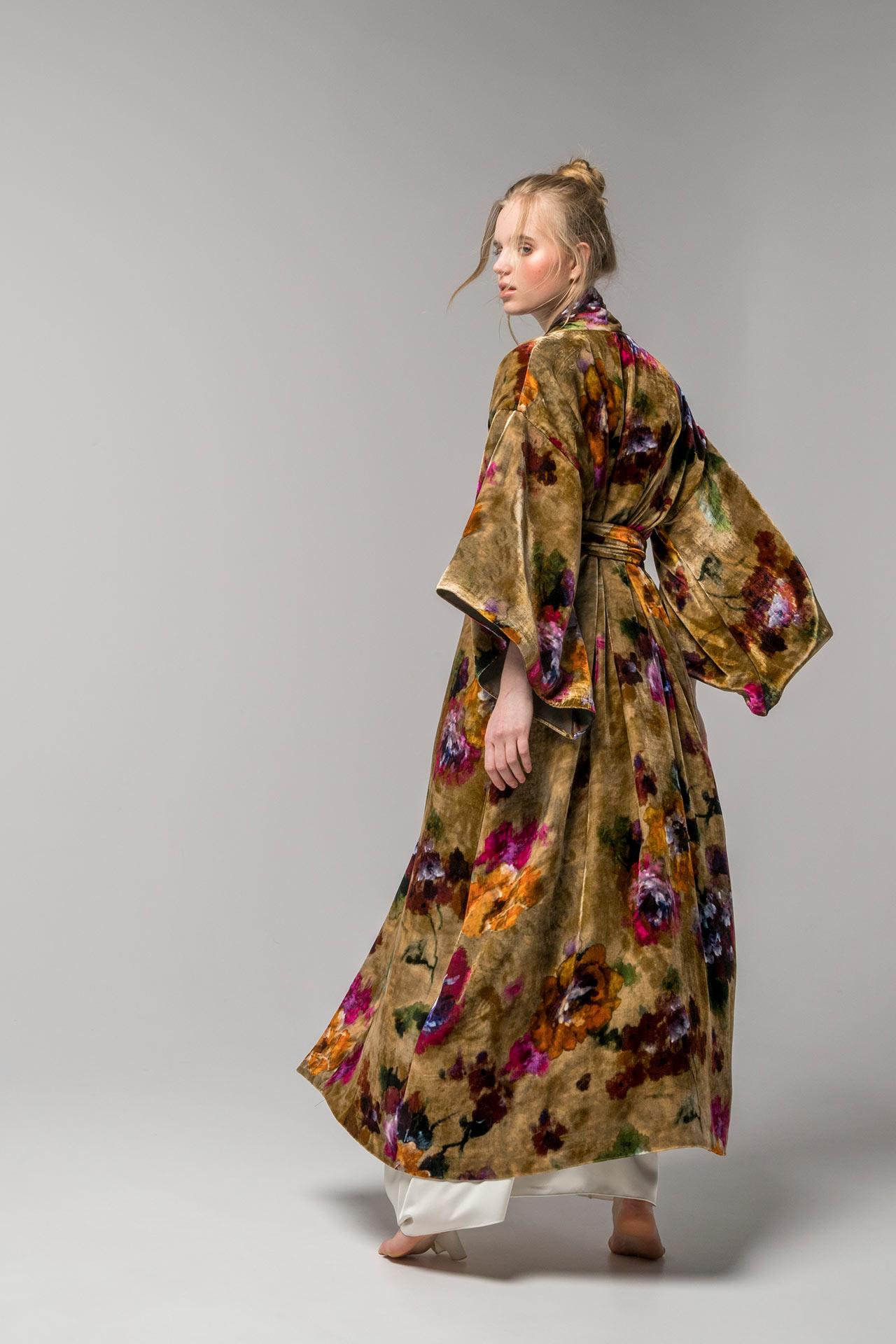 kimono Fleur largo