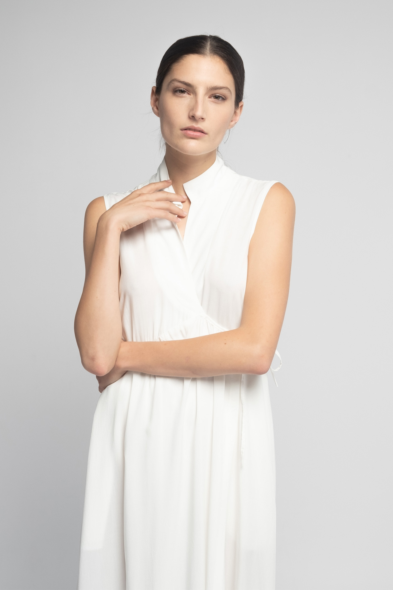 camisón cruzado blanco