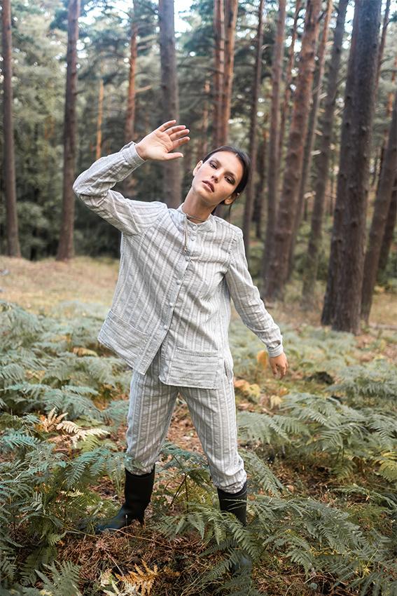 pijama gris carrousel