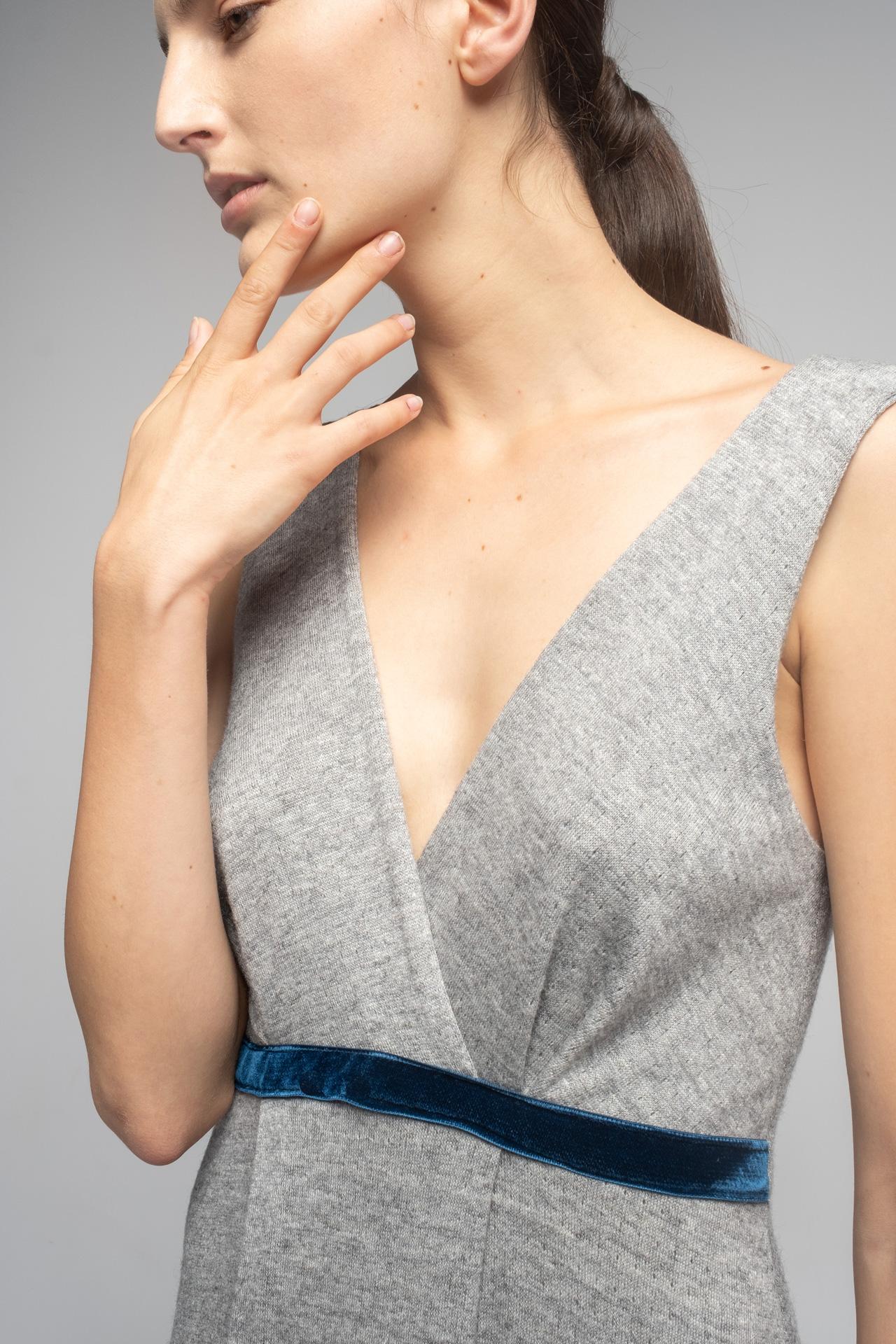 camisón de punto gris 100% algodón